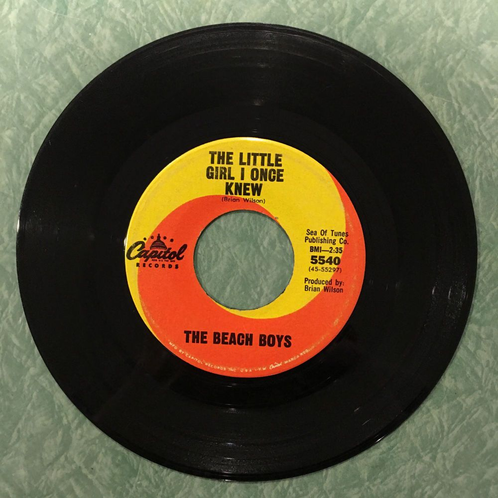 Beach Boys The Little Girl I Once Knew 1965 Capitol 5540 7