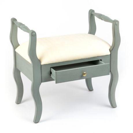Blue Distressed Vanity Stool With Images Vanity Stool Furniture Furniture Sale