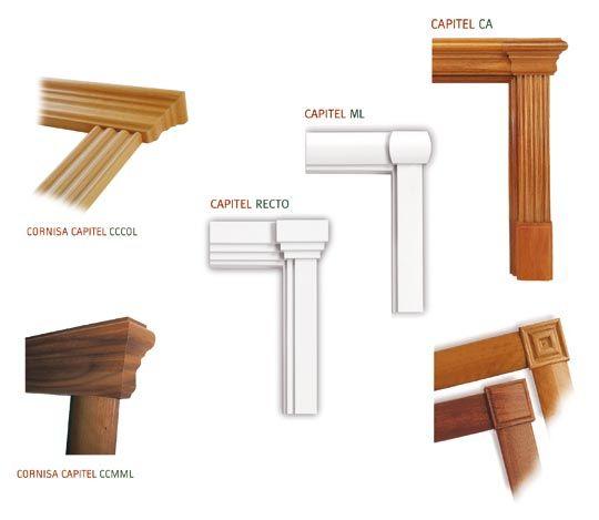 Variedad de cornisas y capiteles para nuestras puertas molduras molding pinterest - Molduras para puertas ...