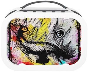 Peacock Painting Lunch Box