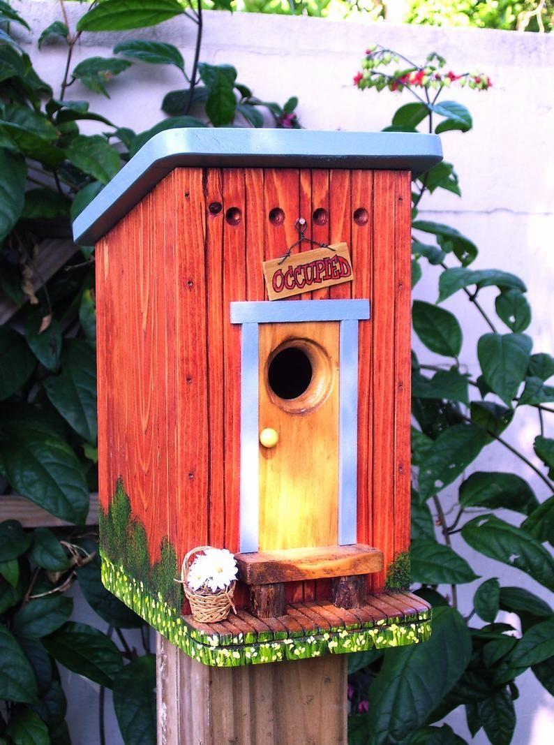 The Outhouse Birdhouse In 2020 Bird Houses Diy Bird Houses Painted Bird Houses