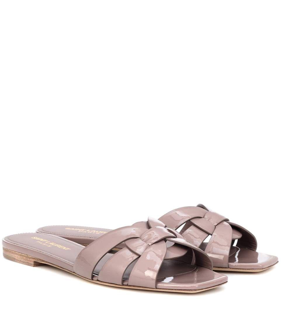 Leather · SAINT LAURENT Nu Pieds 05 leather sandals.
