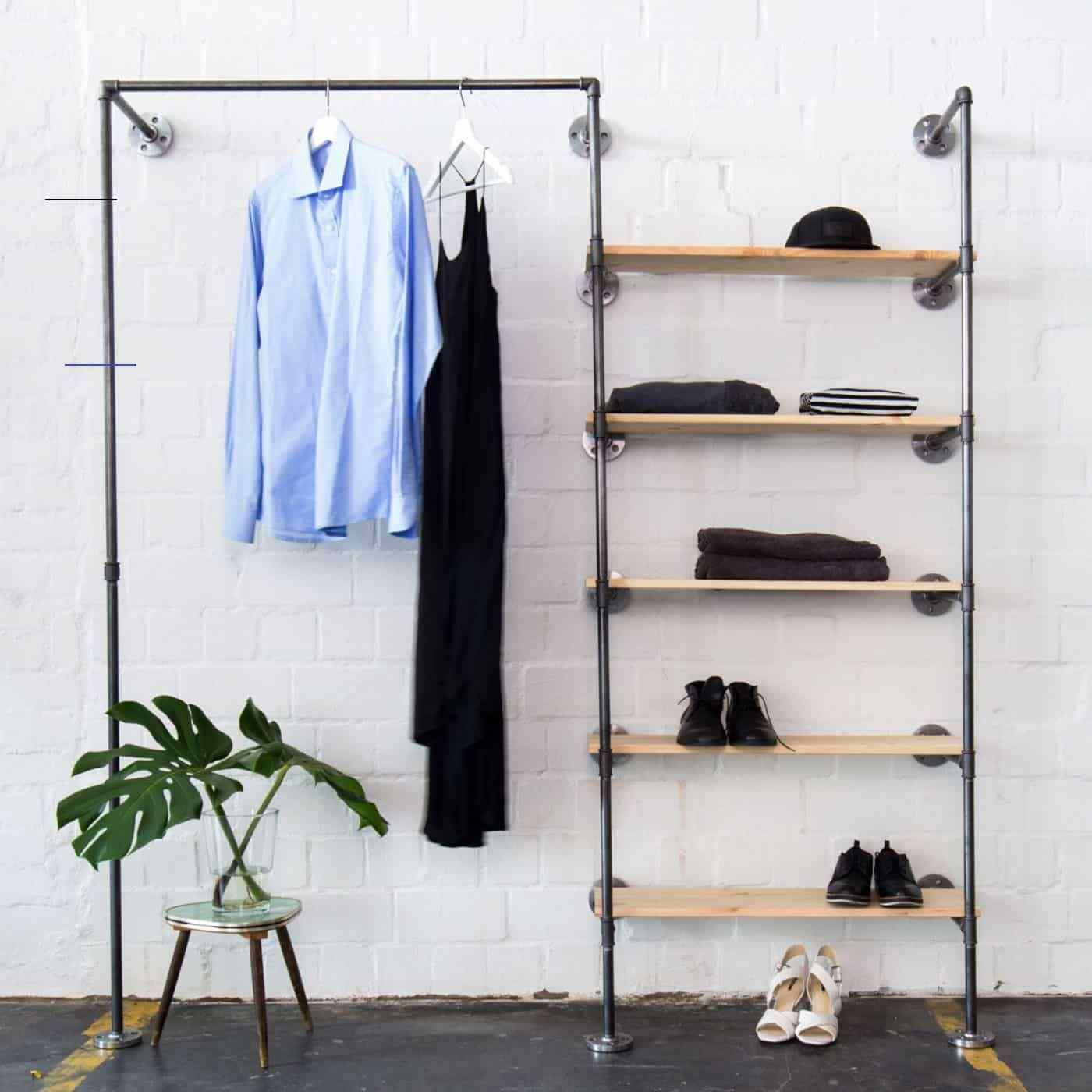 Garderobe Industrial Design Offenen Kleiderschrank Online Bestellen Industridesign Industrial Design Ankleidesyste In 2020 Kledingrek Open Kleerkast Kast Kleding