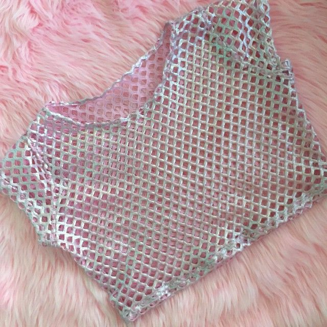 """Pretty baby in baby pink  this jumbo mesh crop top is up now in today's new arrivals! """