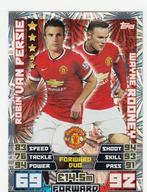 Match Attax 14 15 Van Persie And Rooney Forward Duo Trading Cards All Other Duo Cards Record Breakers Limited Editi Match Attax Man Of The Match Van Persie