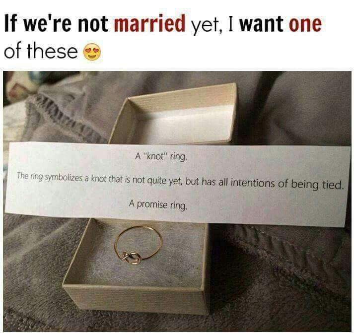 Not Even That Big Of A Fan Of The Concept Of Promise Rings But Thats Cute Knot Ring Promise Promise Rings Rings