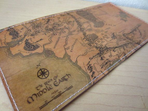 Middle Earth Map  The Lord of The Rings Vinyl Wallet on Etsy