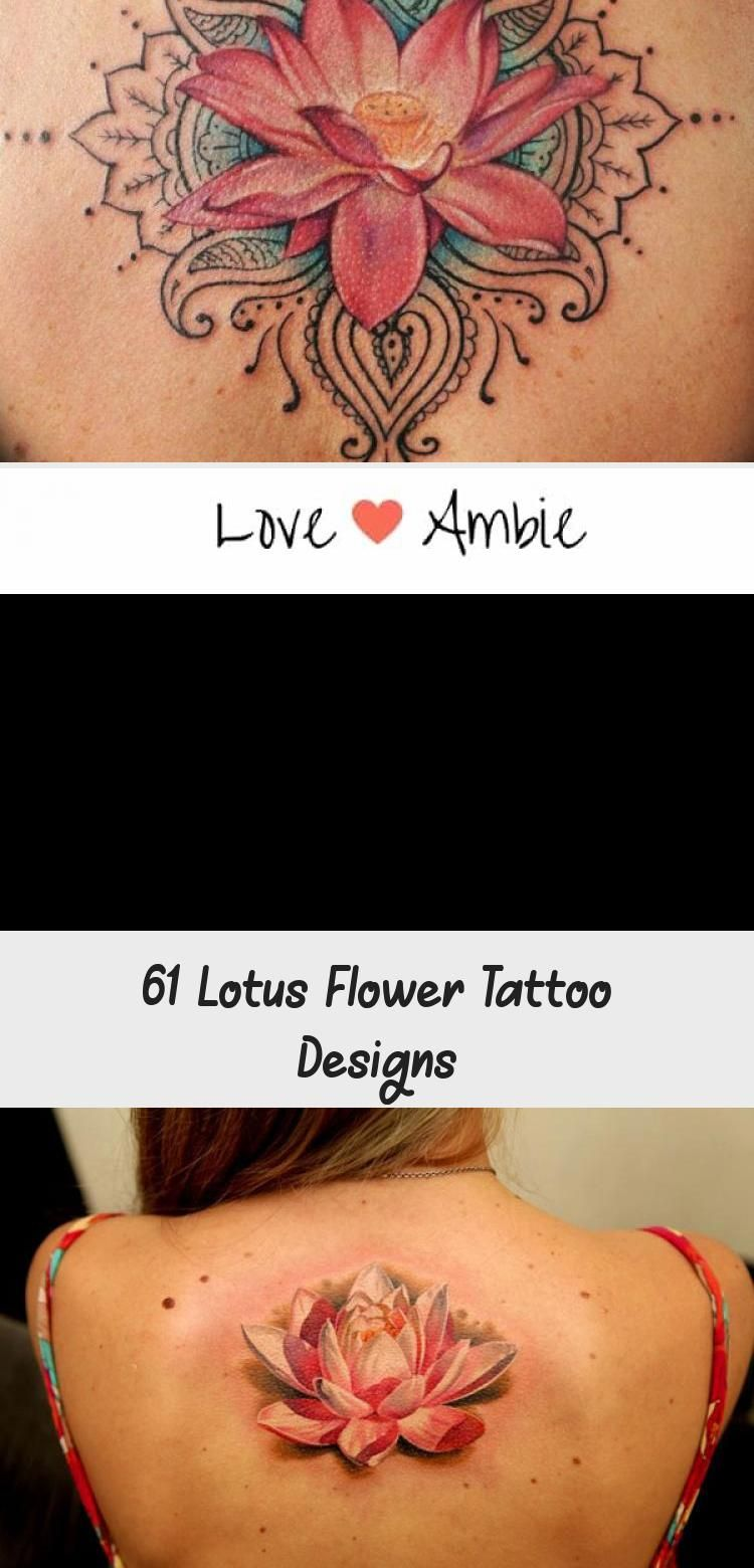 Cute Small Ankle Lotus Flower Tattoo Cute, Colored