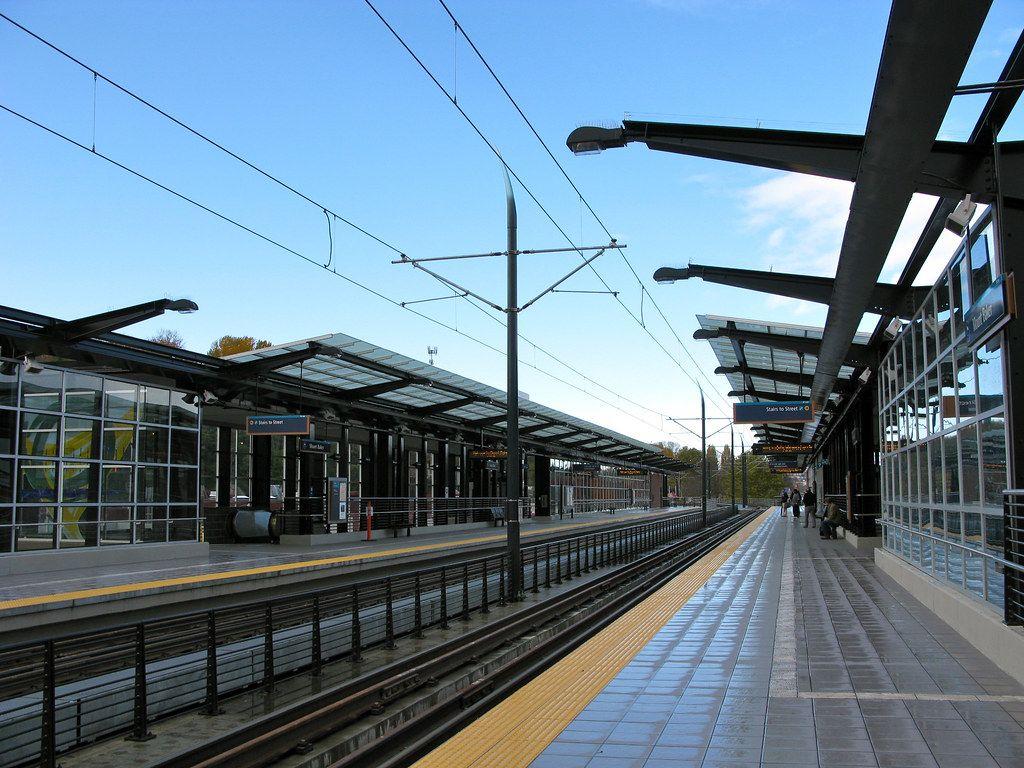 Wet Mount Baker Station Platform Around The Worlds Light Rail Wet