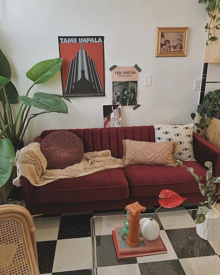 Instagram St Julienn Vsco Stjulienn Sofas For Small Spaces Apartment Decor Burgundy Sofas