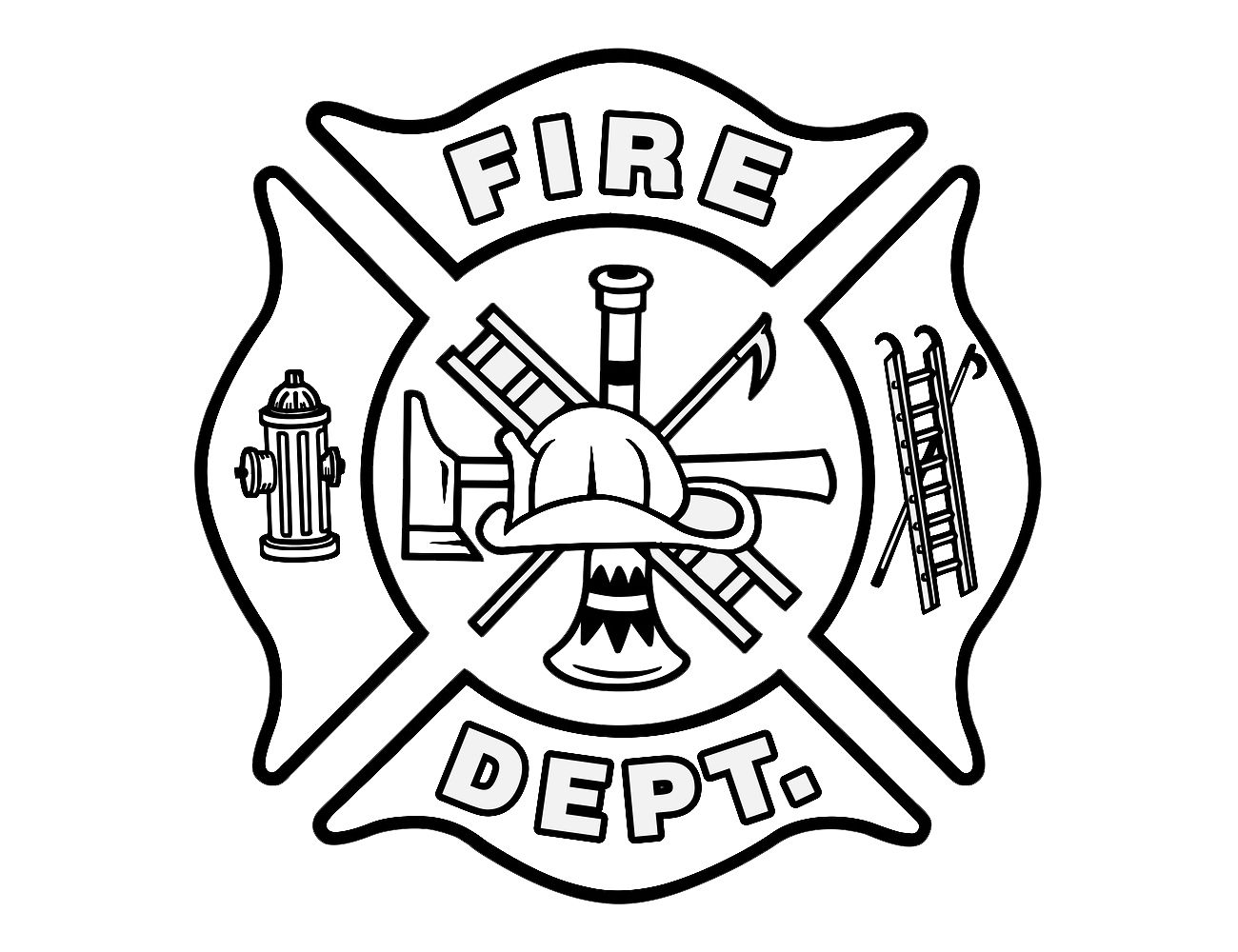 Symbol Fire Department Cross Coloring Page Nemo Coloring Pages Dream Catcher Coloring Pages
