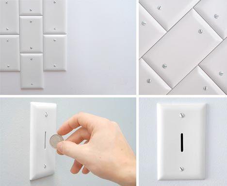 hidden wall coin bank fun fun fun pinterest wall. Black Bedroom Furniture Sets. Home Design Ideas