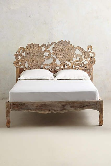 Handcarved Lotus Bed - anthropologie.com