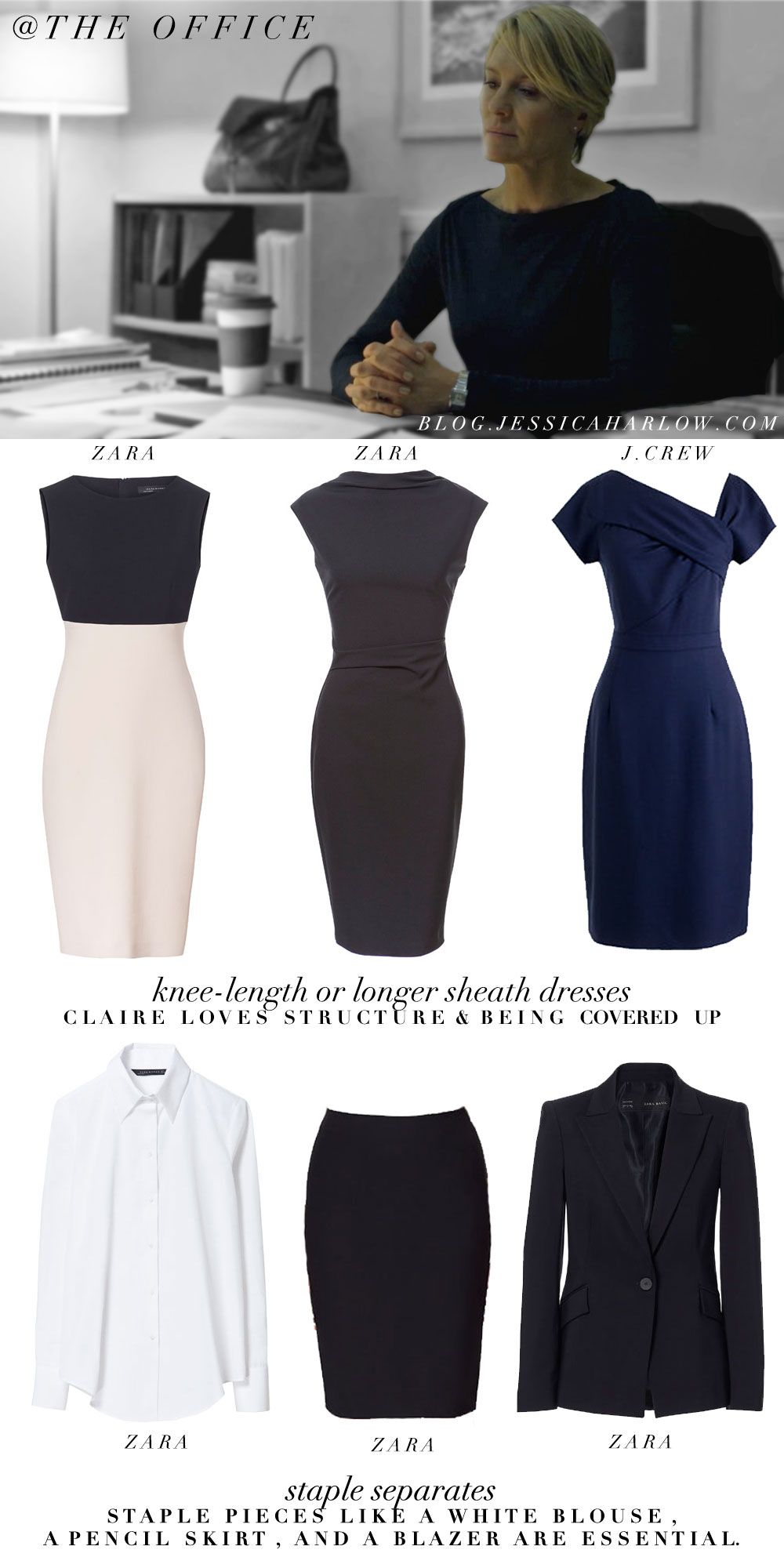 Claire Underwood House Of Cards Work Wardrobe Outfit Clothing Style