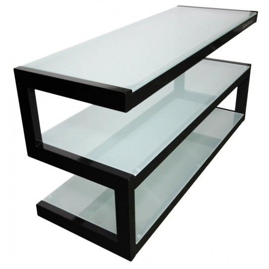buy popular f15d2 b8a68 Black And Frosted Mini S-Shaped Tv Stand ESSE-MINI-FG ...