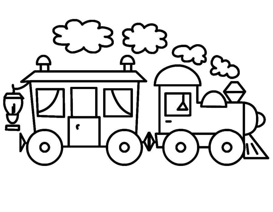 Картинки по запросу раскраски для малышей паровозик с ...