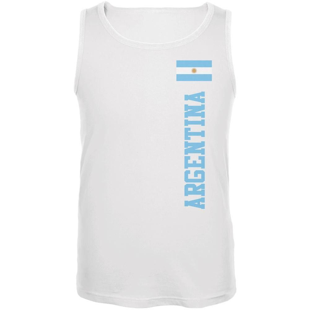 World Cup Argentina White Adult Tank Top