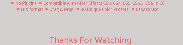 Colera Gradings - 30 Color Presets - 2
