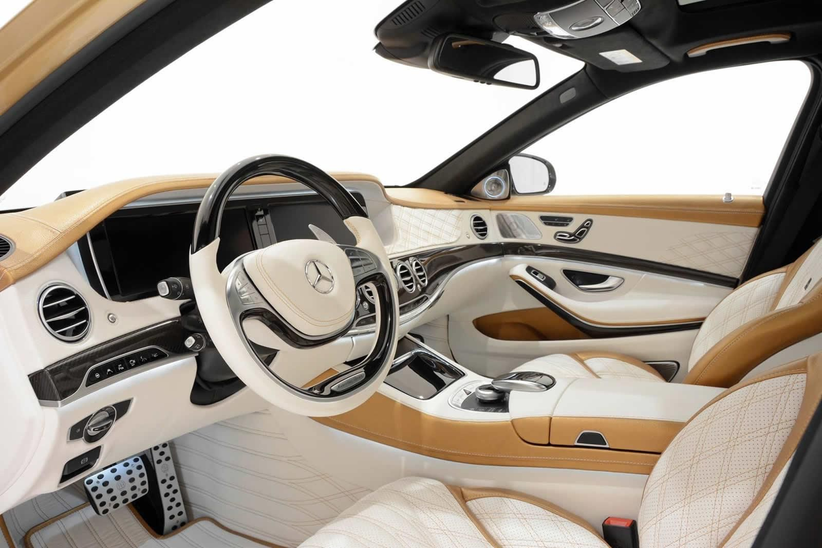 Brabus Show Off Their Gold Mercedes Benz S63 Amg With 1 450 Nm