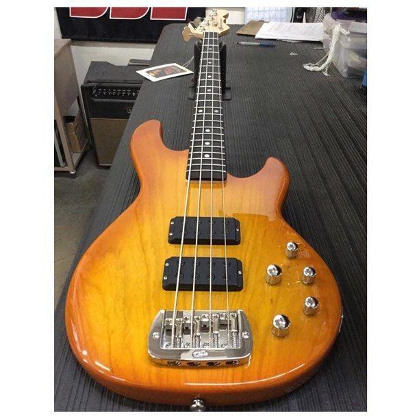 @specialtytraders Here's an M-2000 in Honeyburst over swamp ash, rosewood board, Clear Satin neck finish. CLF076381 is headed to Specialty Traders in Parkersburg, West Virginia. #M2000  #glguitars #GandL #GnL #LeoFender #bassist #bassguitar #bassporn #bassgram #bassplayer #bassesbyleo #gearporn #instabass #madeinusa #craftsmanship