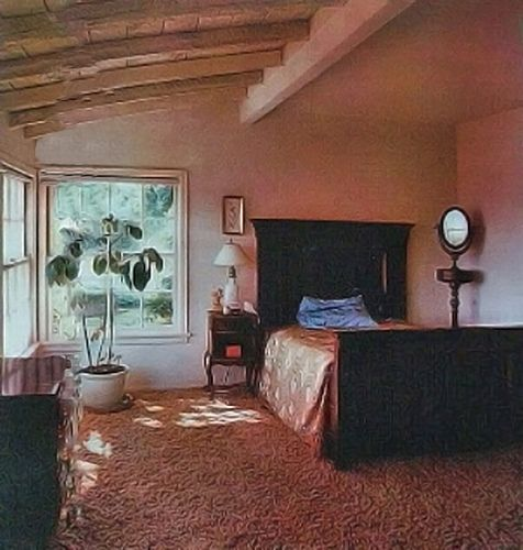 Cielo Ranch Apartments: Bedroom At 10050 Cielo Drive. Her Bedroom.
