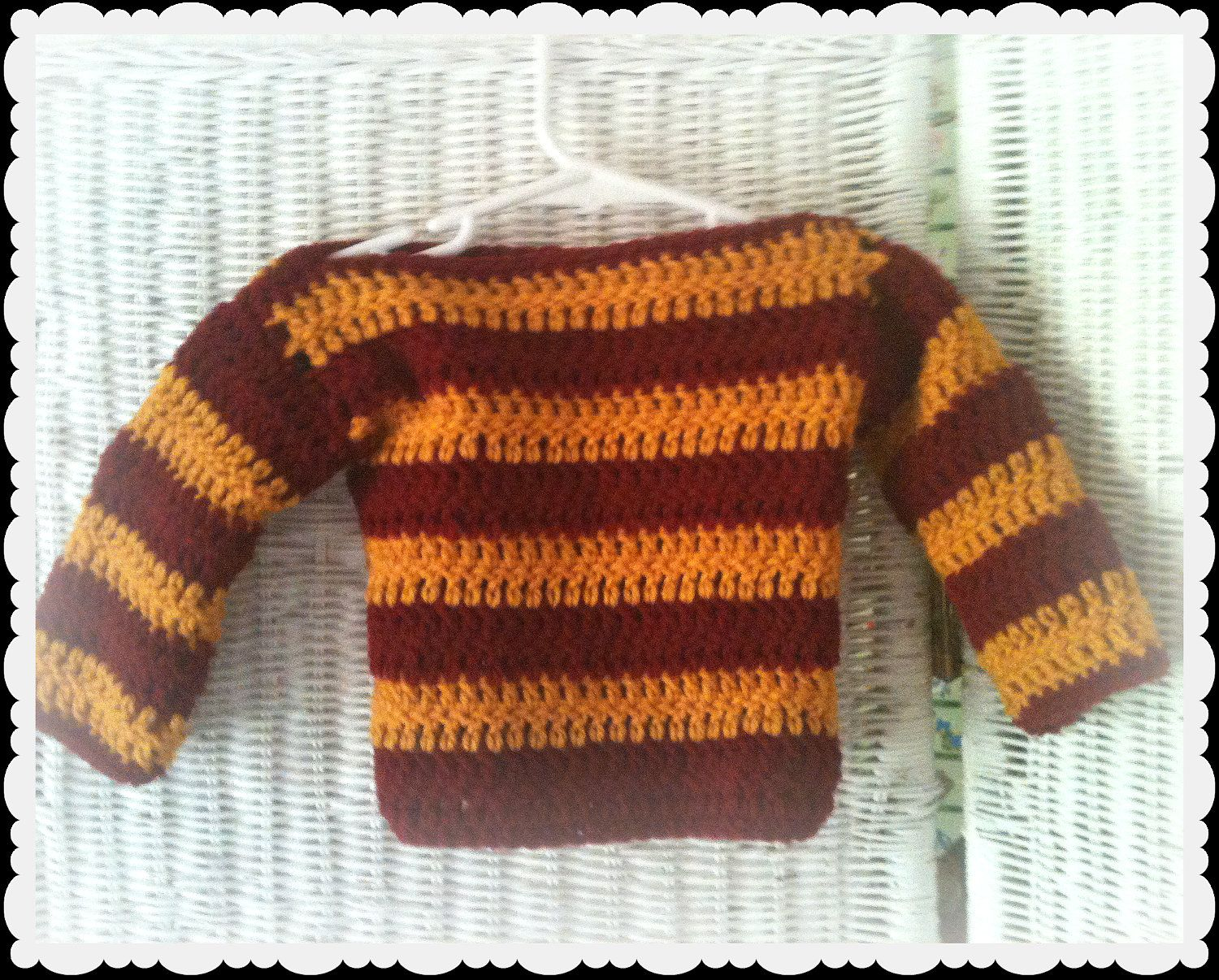 Crochet Gryffindor Baby Harry Potter Sweater (If I do not ...