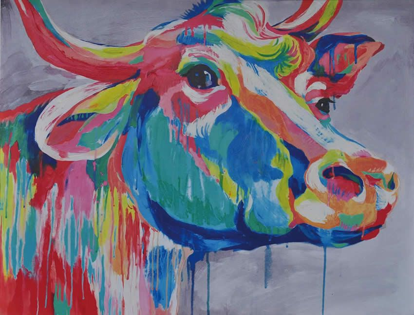 Image Result For Cow Head Painting Cow Canvas Cow Paintings On Canvas Cow Painting