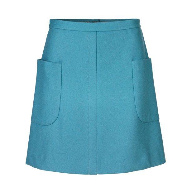 nederdel med lommer