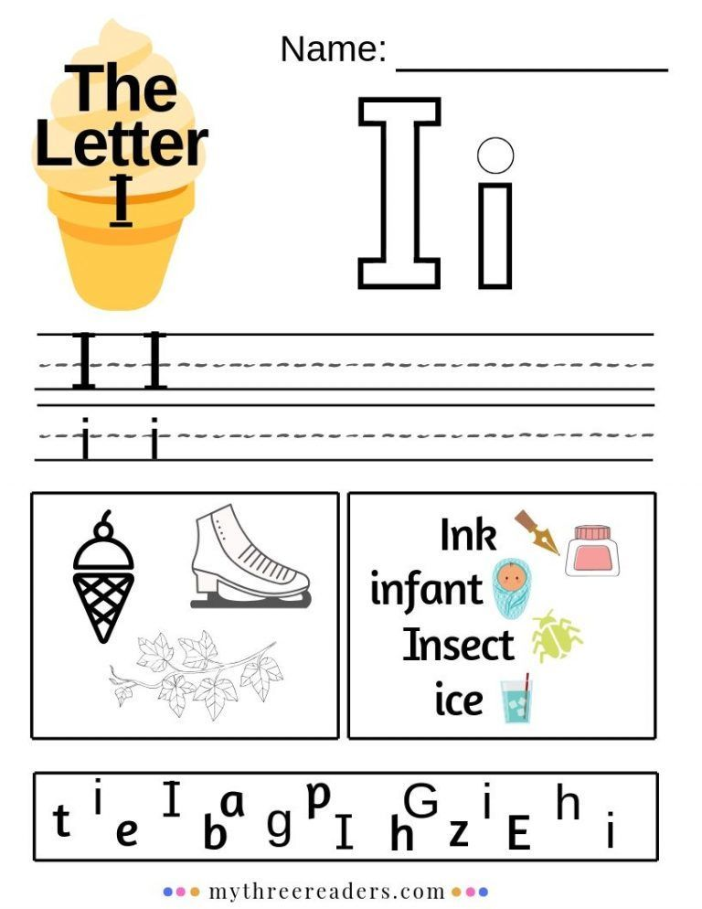 Letter I Printables Free Alphabet worksheets, Free