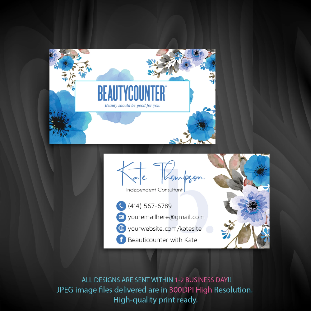 Beautycounter Business Cards Personalized Beautycounter Cards Bc16 Beautycounter Business Cleaning Business Cards Beautycounter