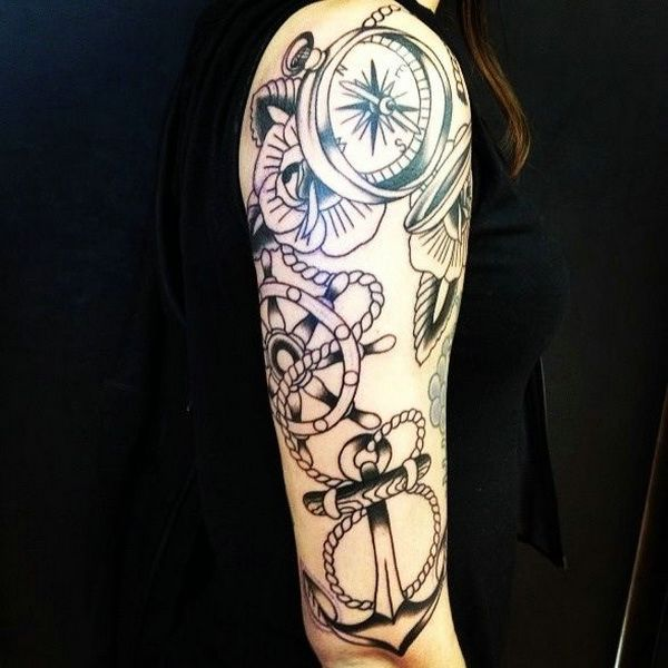 Half Sleeve Tattoo Ideas Black White Sleeve Tattoos Pinterest