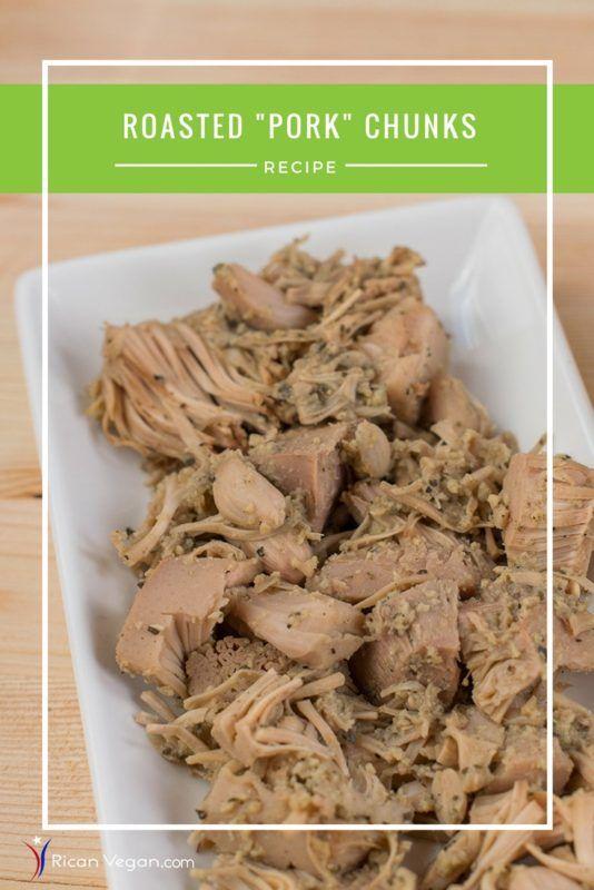 Vegan pernil aka roasted pork chunks recipe latin food jackfruit vegan pernil puerto rican recipe vegan puerto rican recipe roasted jackfruit forumfinder Choice Image