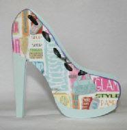 Fashion Shoe Card Making Template Shoe Template Paper Shoes Card Making Templates