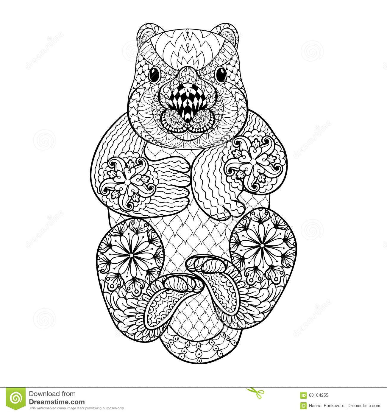 Hand Drawn Tribal Wombat Animal