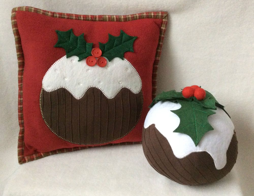 PATCHWORK /QUILTING CHRISTMAS PUDDING CUSHION & DOORSTOP SEW PATTERN Pa...