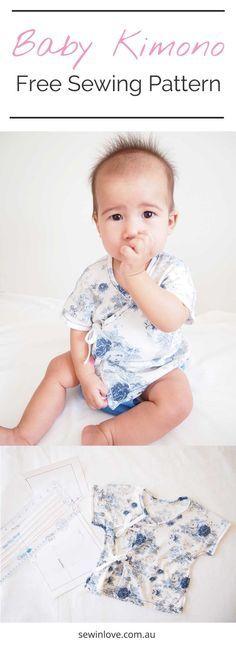 Baby Kimono Free Sewing Pattern | Learn how to make a baby kimono ...