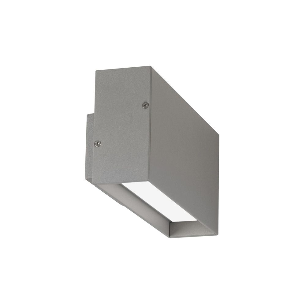 Led-außenwandleuchte Rachel Oaks 167 Sg Burze Outdoor Led Silver Grey Wall Light