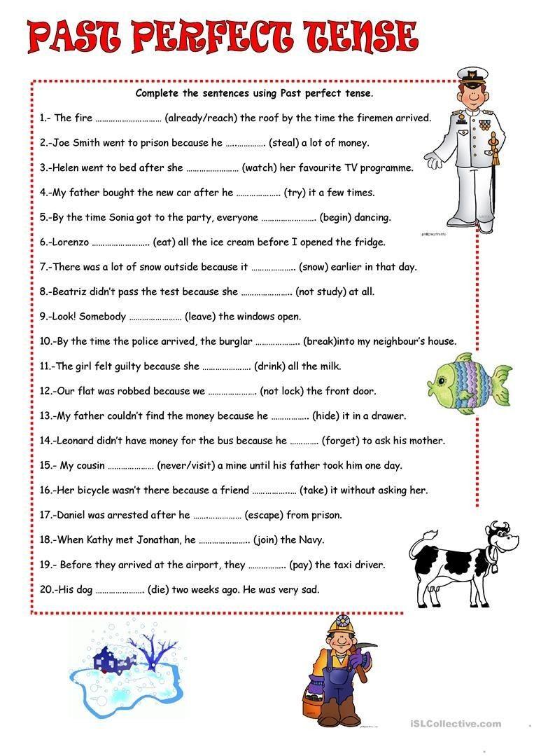 4 Worksheet Free Grammar Worksheets Fifth Grade 5 Verbs Perfect Tense Past Perfect Tense Work Past Perfect Tense Exercises Perfect Tense Grammar Worksheets [ 1079 x 763 Pixel ]