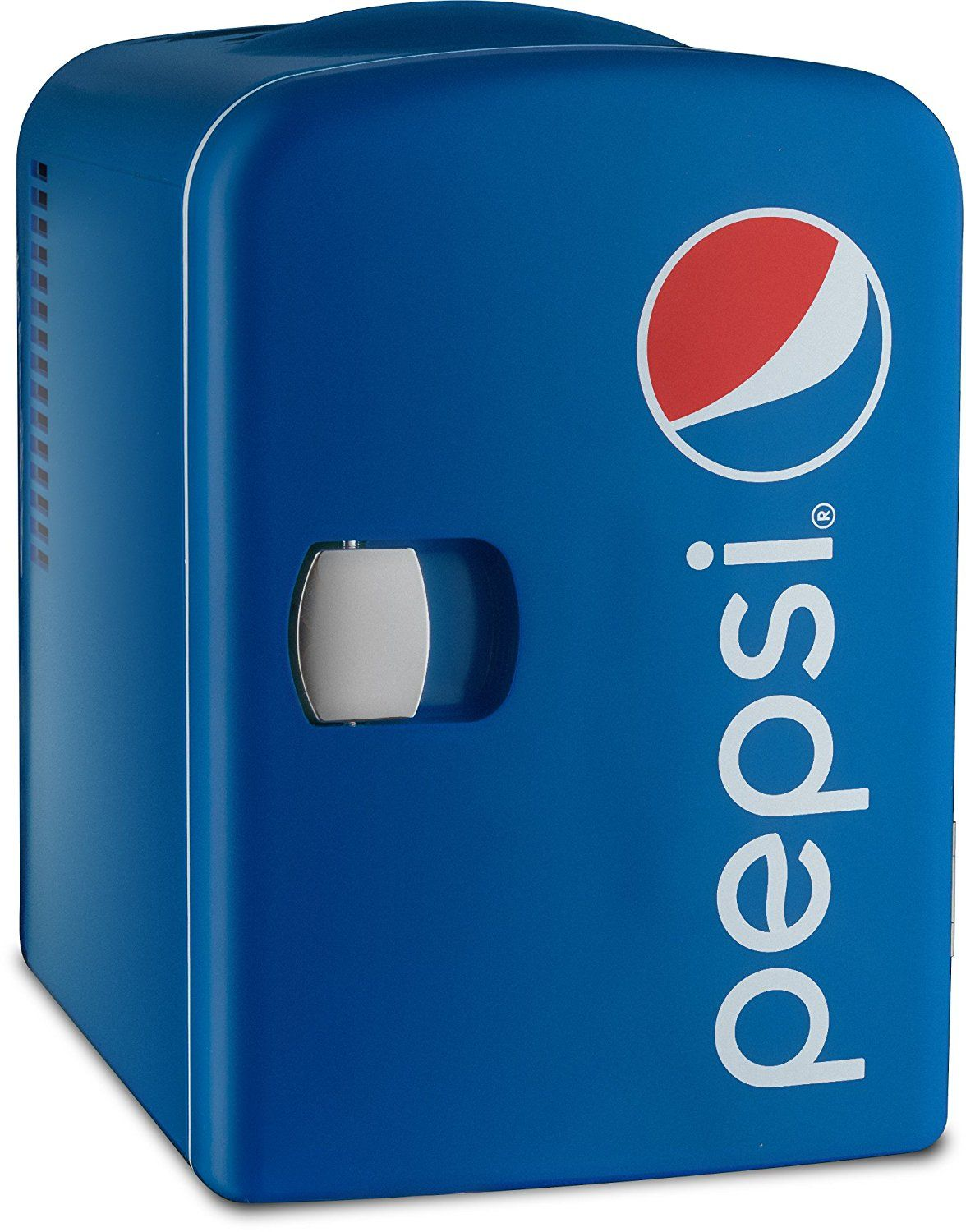 Amazon Com Pepsi Gmf Can Mini Fridge Cooler And Warmer For Home Office Car Or Boat Ac Dc Blue 110v Kitchen Dining