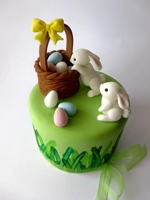 Comestible Pascua dos conejos//conejos Cumpleaños Cake Topper Glaseado Decoración De Pascua