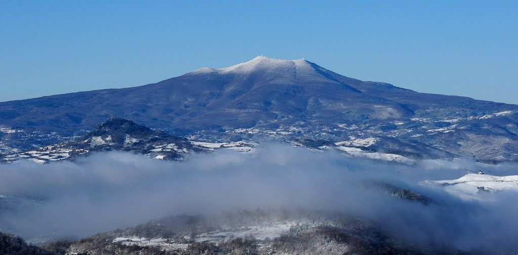 Monte Amiata, Tuscany, Italy. It was an ancient volcano