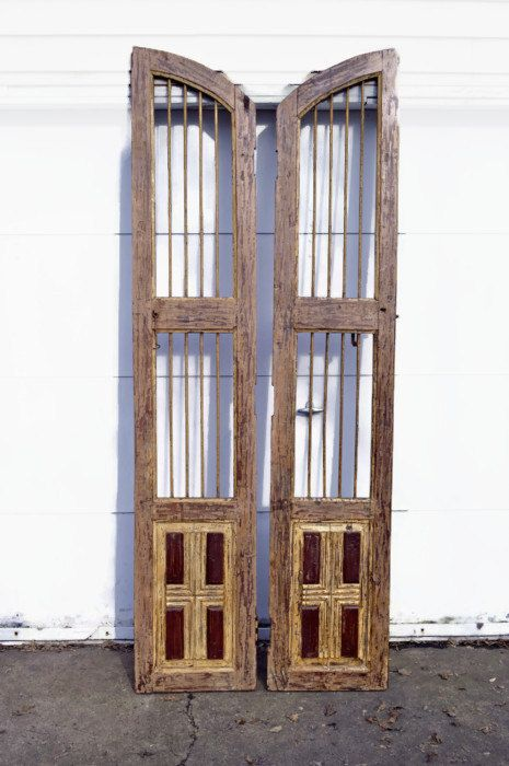 Antique French Doors, Old French Doors, Wood and Iron, Saloon Doors - Antique French Doors, Old French Doors, Wood And Iron, Saloon Doors