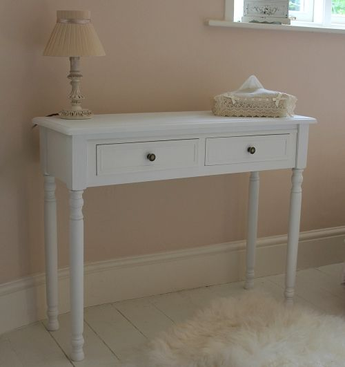 U0027Camille Rangeu0027 White Dressing Table / Console Table French Hall Side Board  Bedroom Kitchen