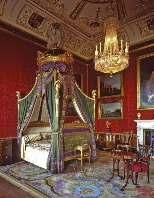 The King's Bedchamber at Windsor Castle   Camera da letto ...