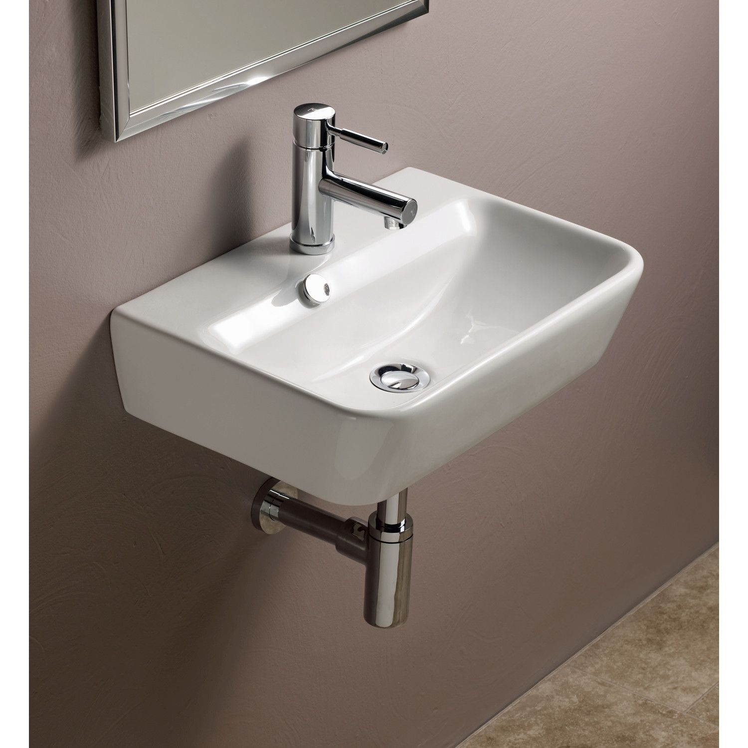 Bissonnet Emma Ceramic Wall Hung Bathroom Sink New Hope Powder