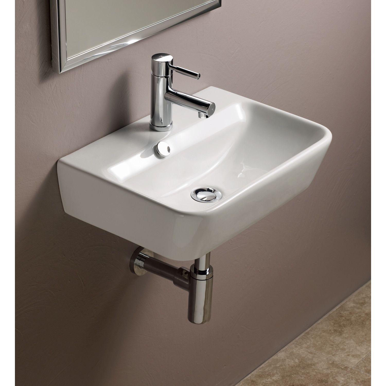 Bissonnet Emma Ceramic Wall Hung Bathroom Sink New Hope Powder