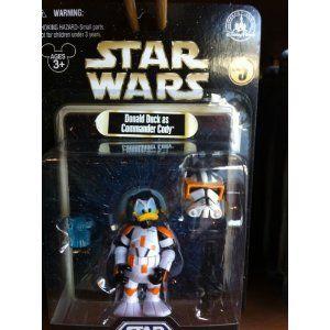 donald duck as commander cody | disney star wars, star wars toys