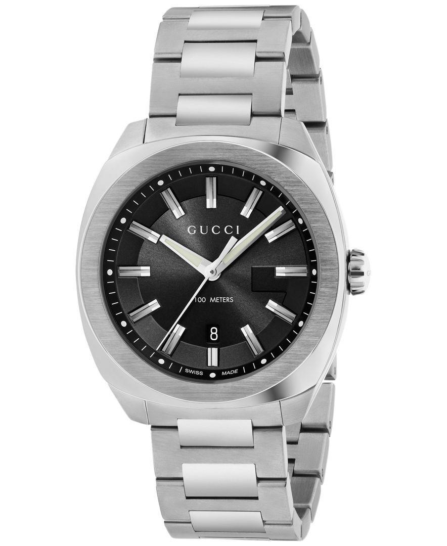 5174a8a939c Gucci Men s GG2570 Swiss Stainless Steel Bracelet Watch 41mm YA142301