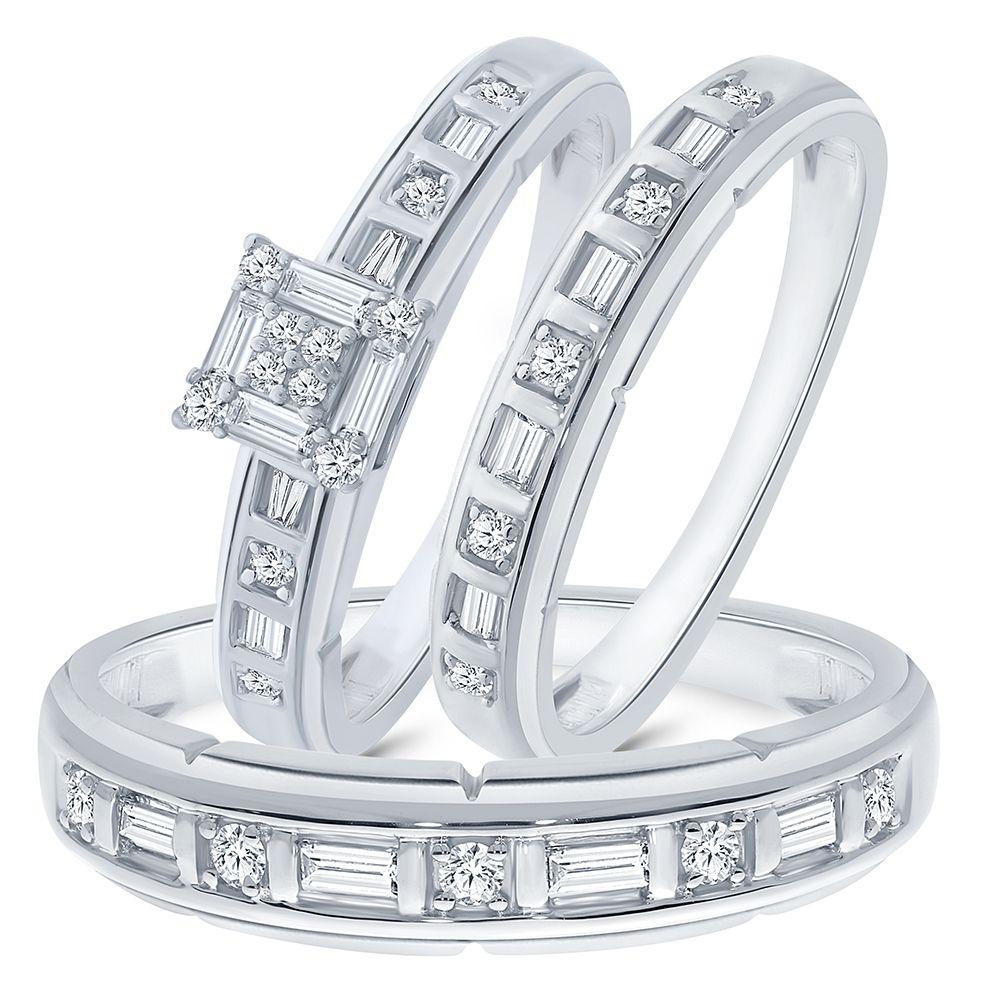 La joya 1/2 cttw Simulated White Diamond Sterling Silver