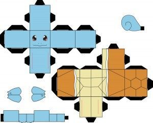 Pokemon Papercraft Templates Easy 手作摺紙 Pinterest